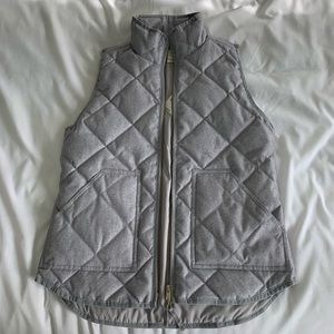 J. Crew Gray Puffer Vest